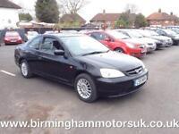 2001 (51 Reg) Honda Civic 1.7 VTEC 2DR COUPE BLACK + LOW MILES