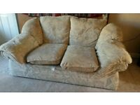 Three piece suite - 3 seater sofa, 2 seater sofa and arm chair