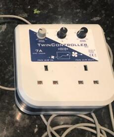 Fan Speed Temp Controller SMSCom 7-Amp Twin Mk 2 Hydroponics