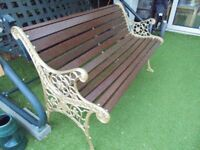 two seater garden bench
