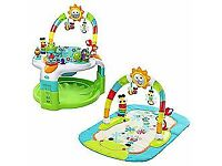 Bright Starts 2-in-1 Laugh & Lights Activity Gym & Saucer New