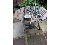 Assorted garden tools in great condition