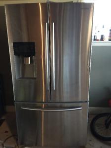 Samsung fridge with in door ice and water dispenser, $900 obo