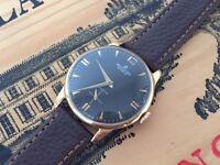Rare vintage Large 1950's gold Breitling Cadette mens watch (18k, 9k)