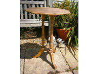 Antique Edwardian Octagonal Lamp/Wine Table...ideal for painting!