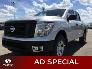 2017 Nissan Titan S 4X4 GAS Bluetooth,