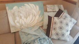 Dunelm Duck egg blue curtains & accessories