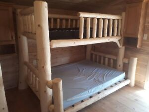 Rustic solid wood beds