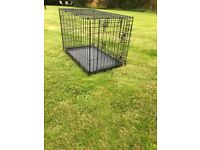 Used black dog cage