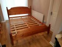 King size bed pine delivery can be available