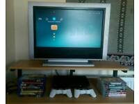 Sony PS3 bundle with games, blu rays and a TV. PlayStation 3.