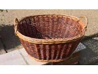 Large Wicker Basket Brown