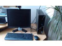 Dell Dimension desktop/monitor/mouse/keyboard