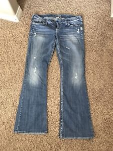 """Womens Silver """"Tuesday"""" Jeans 32W 33L"""