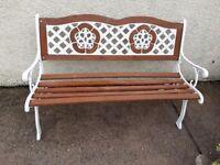Garden bench refurbished
