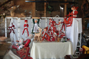 Lg. Collection of Vintage Annalee Xmas Dolls n Jimmie Elves