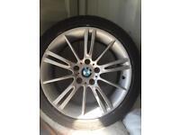 "BMW mv3 style 18"" alloys tyres 5/120 VW T5"