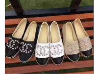 Chanel summer espadrilles new with box rrp £6-800