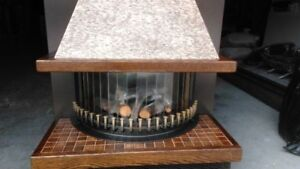 Natural Gas Fireplace.