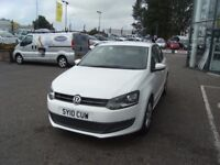 2010 10 VOLKSWAGEN POLO 1.4 SE 5D 85 BHP **** GUARANTEED FINANCE **** PART EX WELCOME ***