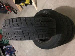 4 pneus Yokohama IG20 205/60/16 posés/balancés sur 4 Rim