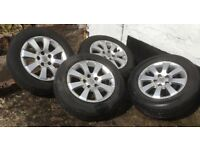 Alloy Wheels (Astra) with tyres