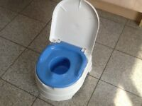 Baby potty with removable pan and lid-£5
