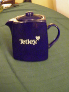 BLUE TETLEY TEA POT