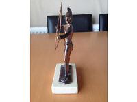 """Bronze Greek Statue """"HELLENE BOWMAN"""" Hellenic Art - Made in Hellas"""