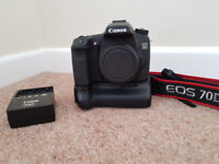 Canon 70D body and battery grip