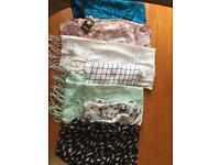 Women's scarves x 7