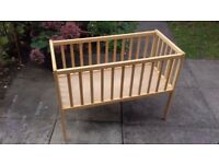 Kiddicare Dream Crib - Natural Finish - Baby Cot (0-6 Months)