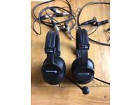 REDUCED - BeyerDynamic DT290 headphones with microphone and cabling