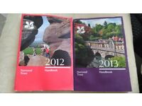 National Trust guidebooks - 2012 and 2013