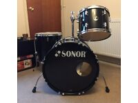 Sonor Drum Kit with cases and hardware