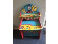 Thomas the tank engine desk and toy storage box seats