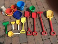 Selection of sand toys