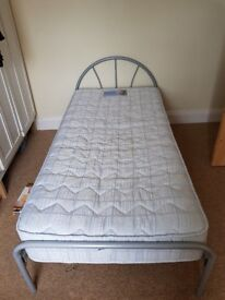 Metal single bed mattress not included