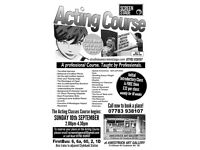 Acting Classes - in Clydebank - from professional tutor