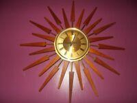 VINTAGE (ANSTEY WILSON) Sunburst Wall Clock. Look***
