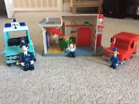Postman Pat sorting office, cars and characters