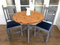 LOVELY VINTAGE TABLE+2Chairs FREE DELIVERY LDN🇬🇧