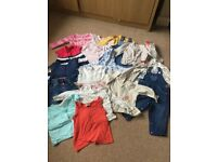 Baby girl clothes bundle 9-12 months .