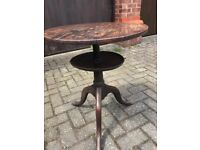 Round tripod based 2 tier table