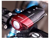 Waterproof LED Bike Front Headlight - Rechargeable USB Light - Ultra Bright 500ft - Brand New