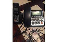 Twin landline phone and cordless