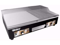 NEW Electric Griddle / Hotplate 73cm Flat / Grooved Commercial Excellent Plate