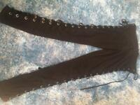 Trousers with lace up sides. Size 14/16