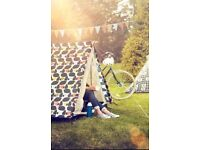 Brand new! Orla Kiely Vintage Camping Festival 2 Man Person Double Skin a Frame Tent Olive RRP £100