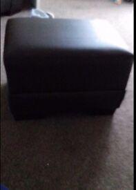 Chocolate brown foot stool